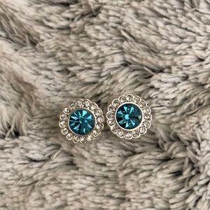 Vera Bradley crystal and blue studs